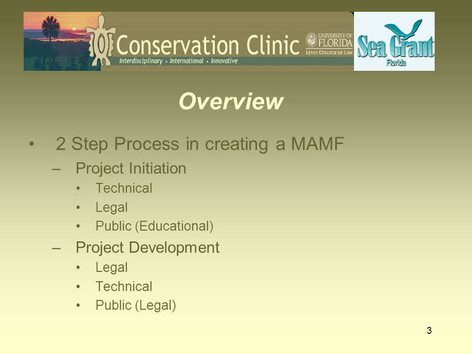 Overview 2 Step Process in creating a MAMF Project Initiation