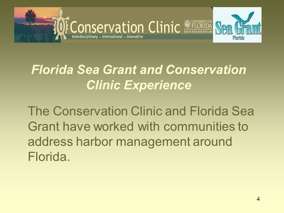 Florida Sea Grant and Conservation Clinic Experience