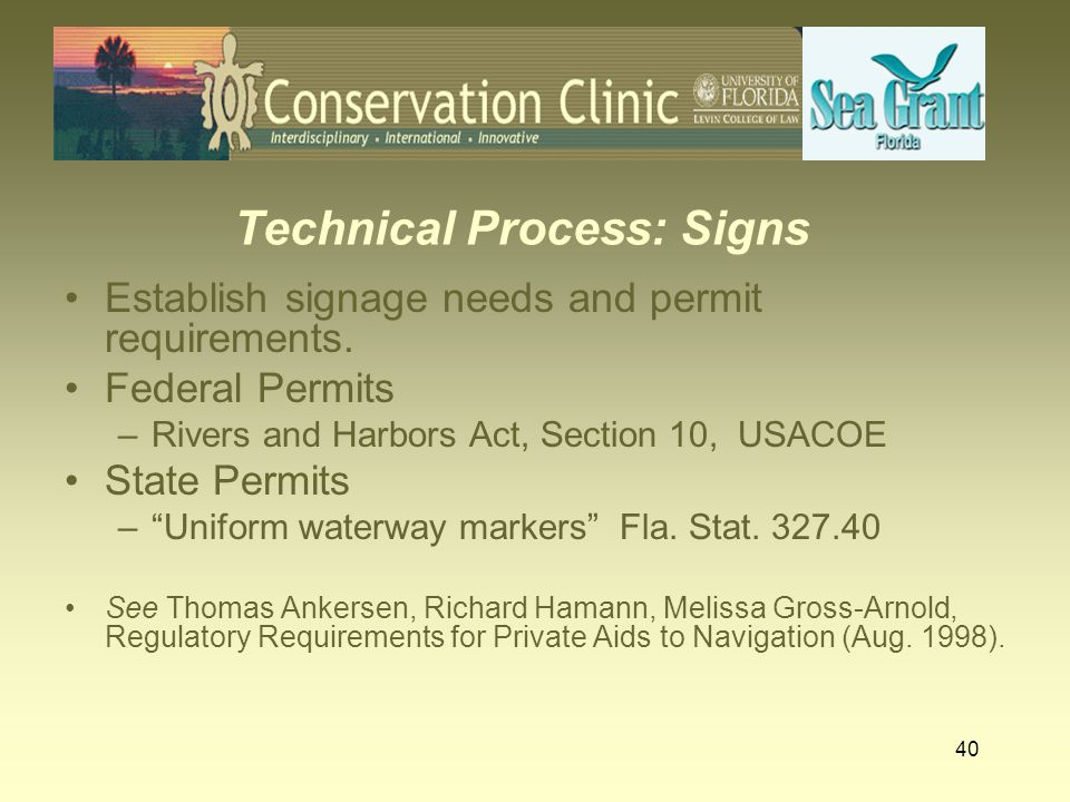 Technical Process: Signs