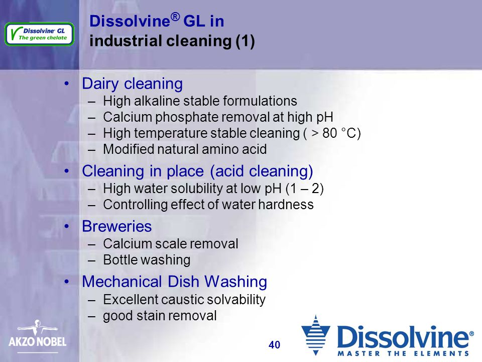 Dissolvine® GL in industrial cleaning (1)