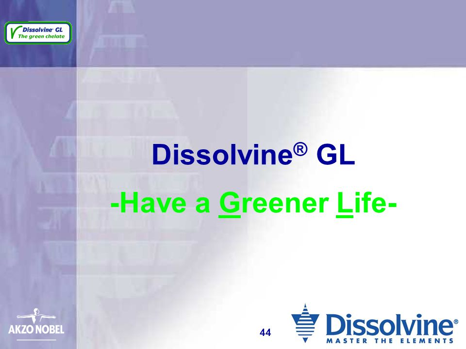 Dissolvine® GL -Have a Greener Life-