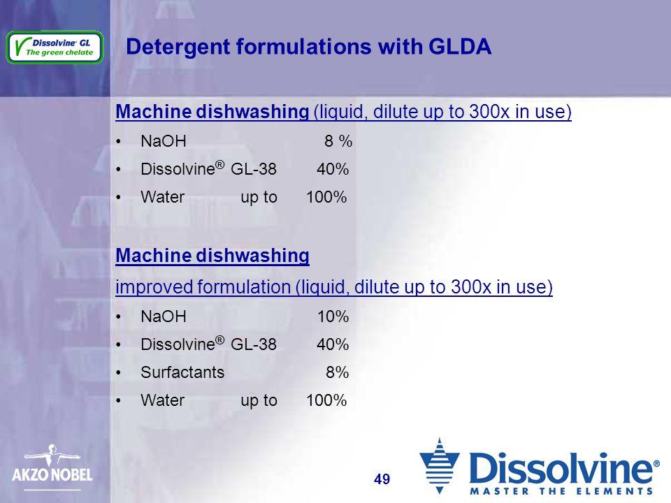 Detergent formulations with GLDA