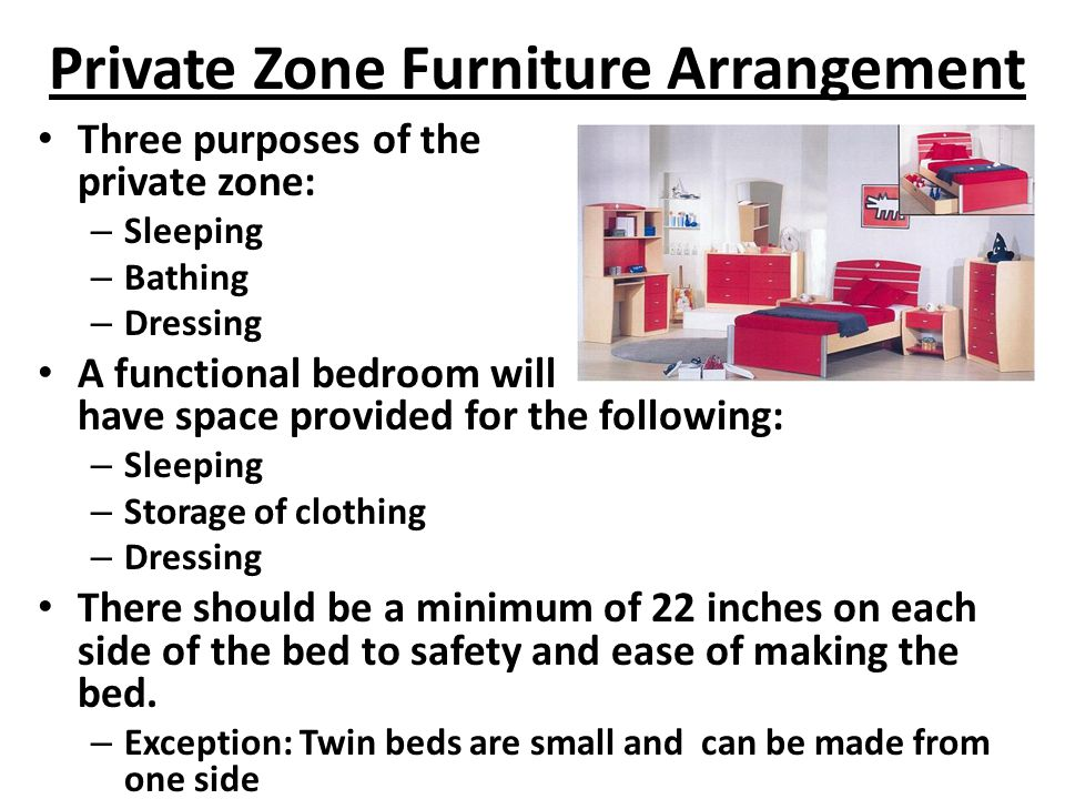 Private Zone Furniture Arrangement