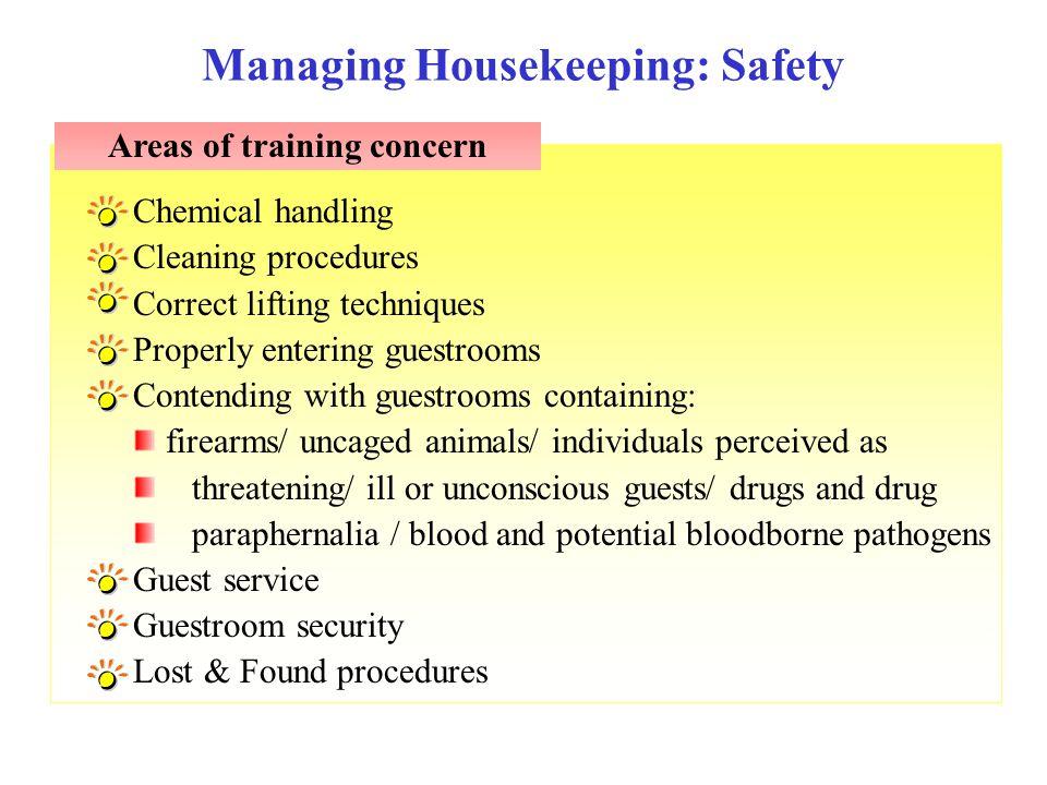 Managing Housekeeping: Safety