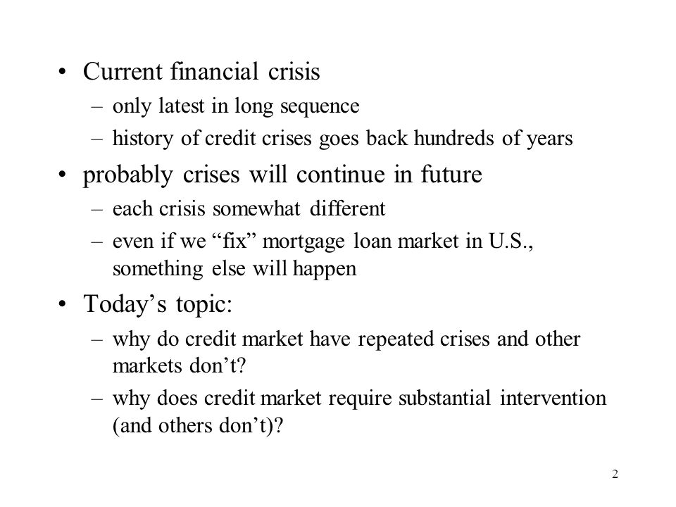 Current financial crisis