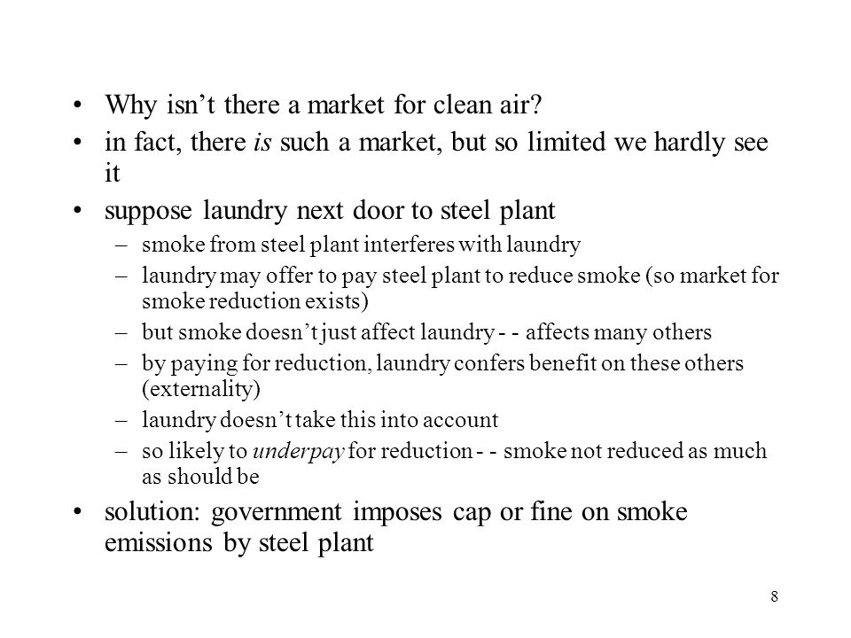Why isn't there a market for clean air