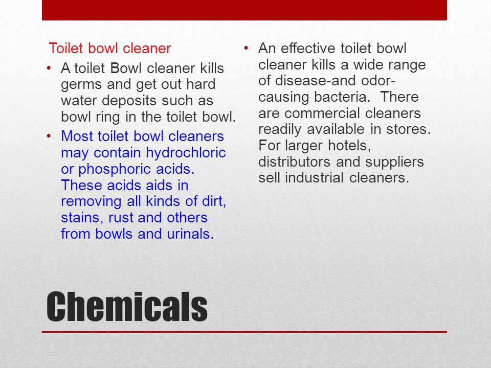 Chemicals Toilet bowl cleaner