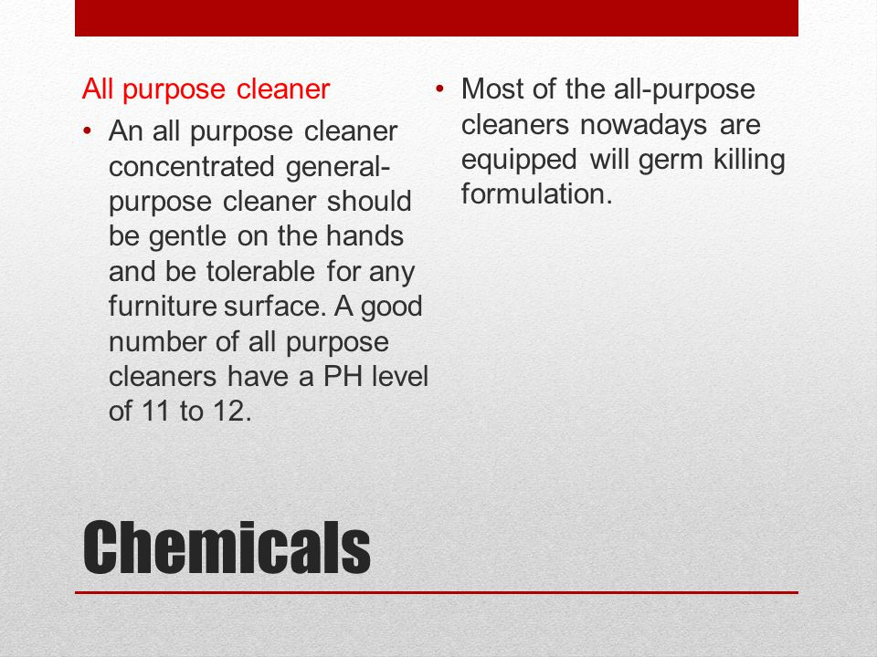Chemicals All purpose cleaner