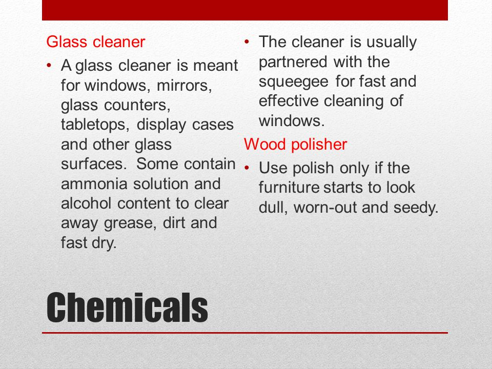 Chemicals Glass cleaner