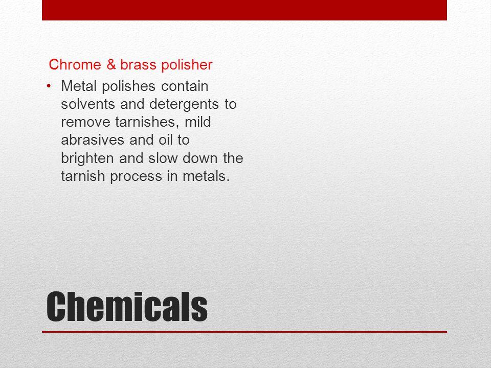 Chemicals Chrome & brass polisher