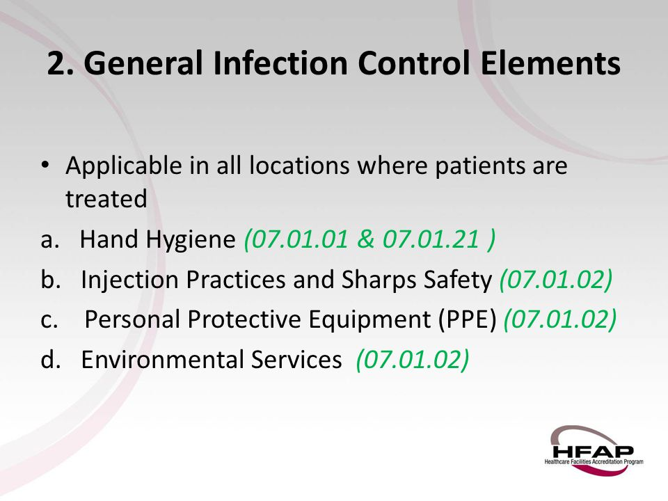2. General Infection Control Elements