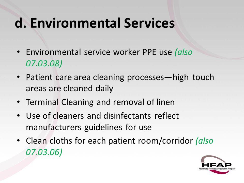 d. Environmental Services