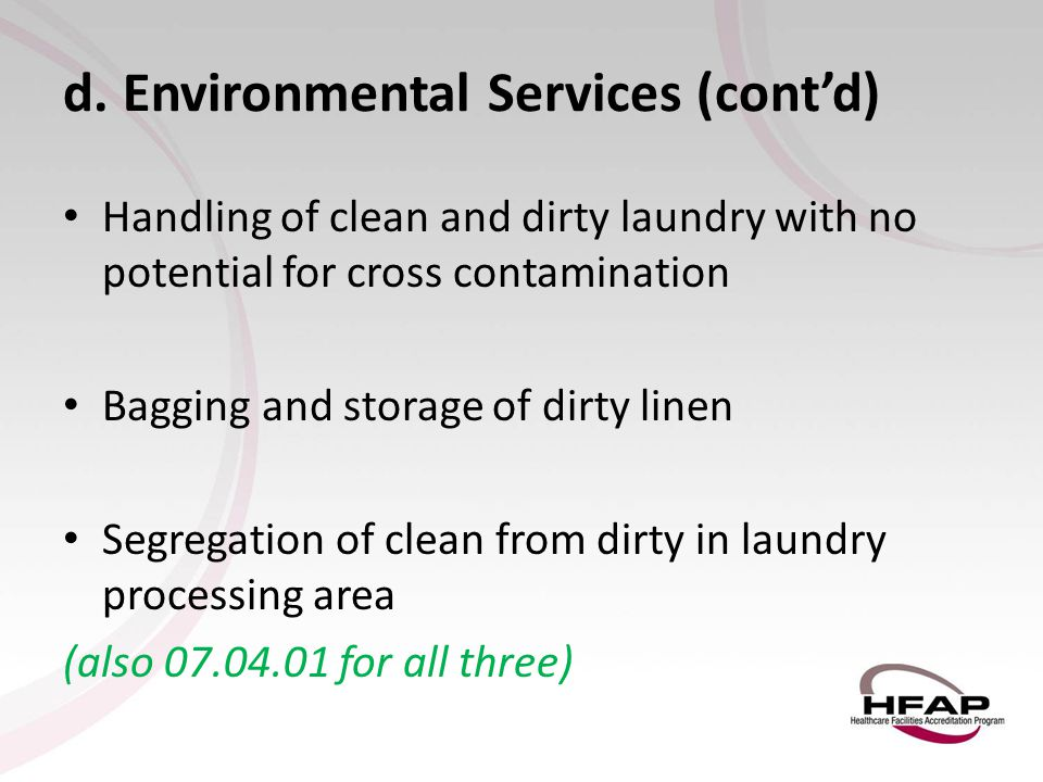 d. Environmental Services (cont'd)