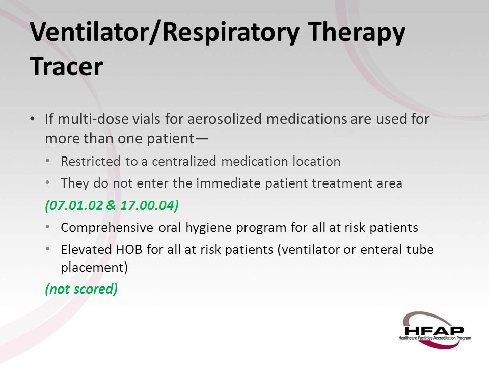 Ventilator/Respiratory Therapy Tracer