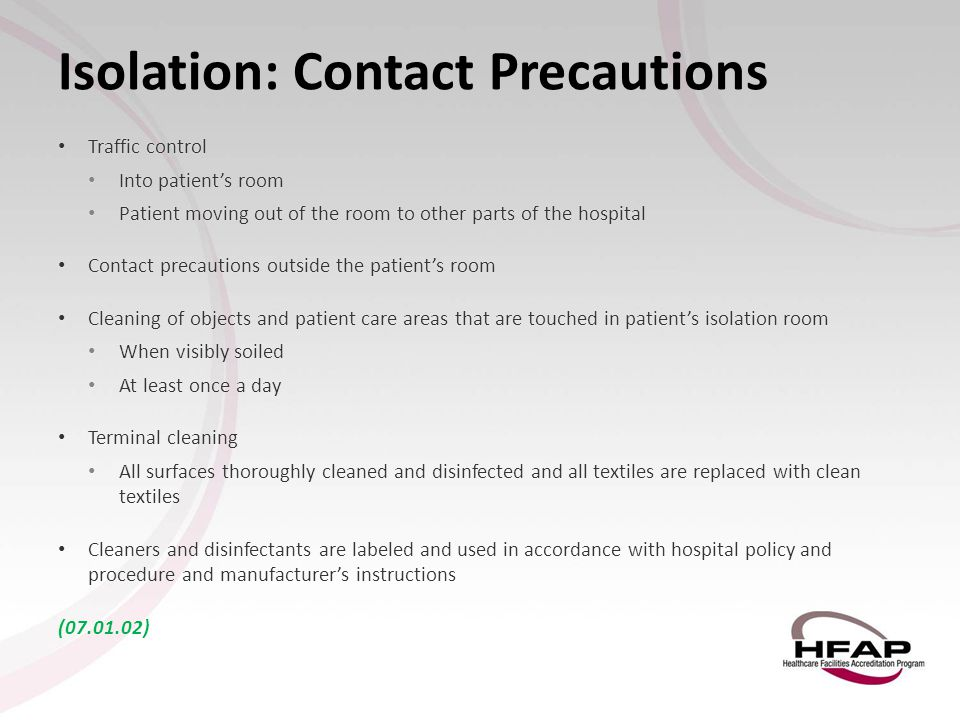 Isolation: Contact Precautions