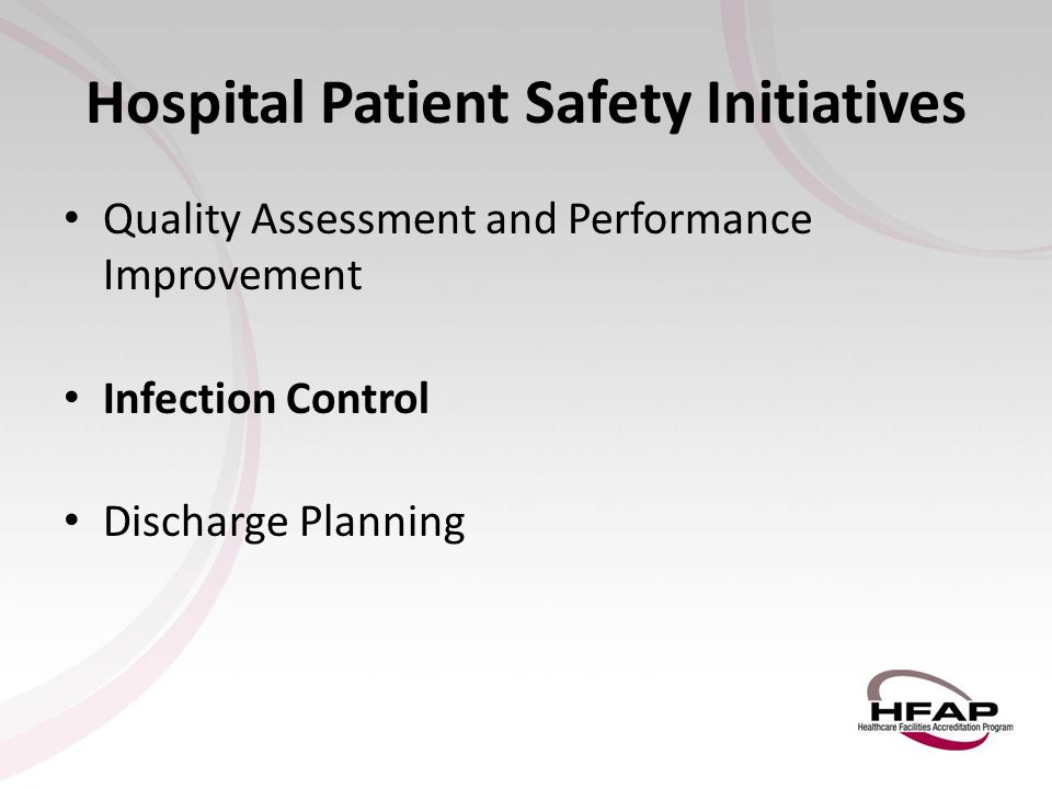 Hospital Patient Safety Initiatives