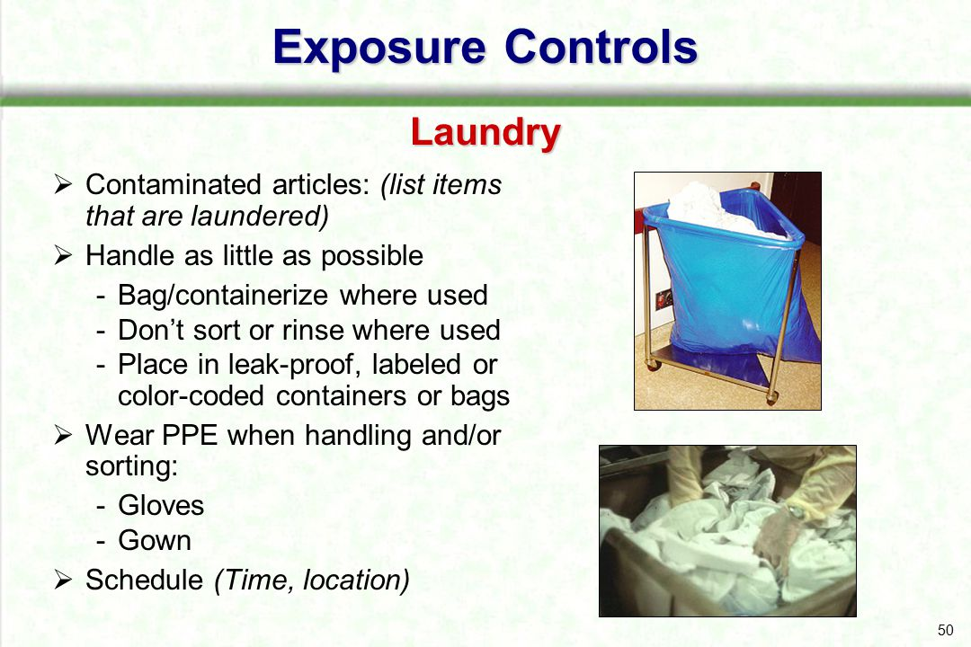 Exposure Controls Laundry