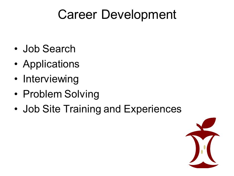 Career Development Job Search Applications Interviewing