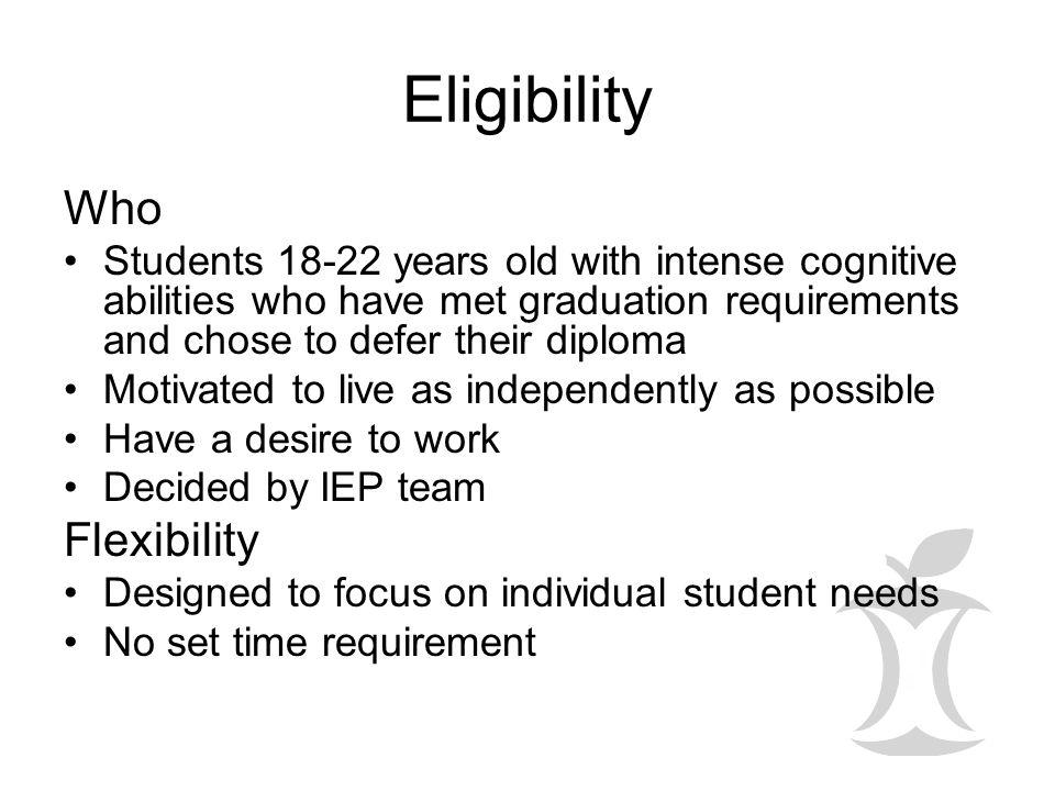 Eligibility Who Flexibility