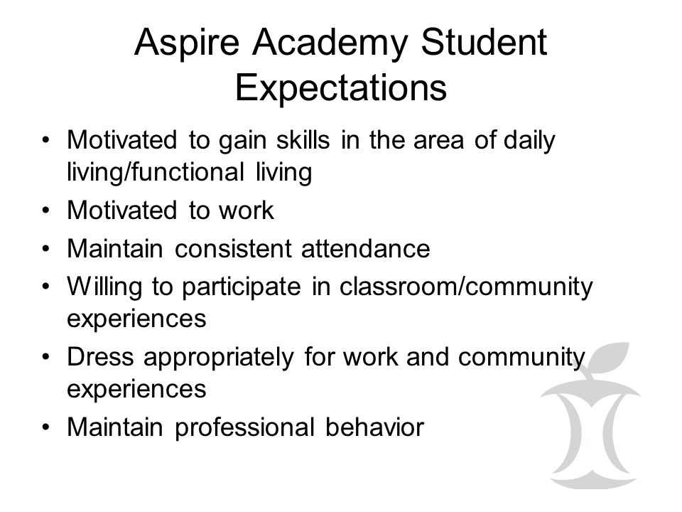Aspire Academy Student Expectations