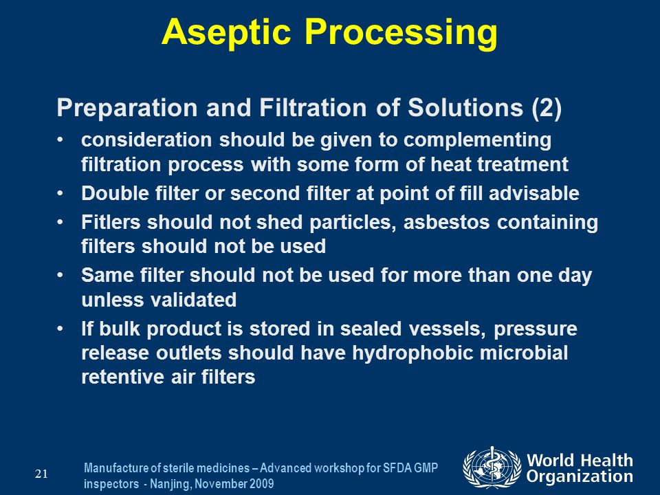 Aseptic Processing Preparation and Filtration of Solutions (2)