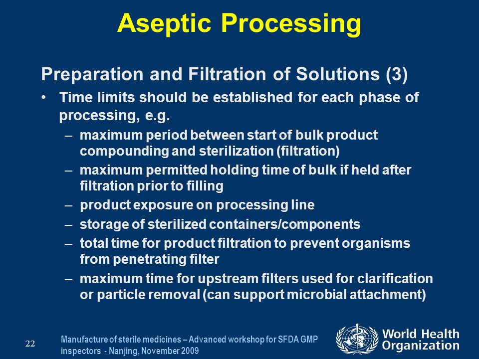 Aseptic Processing Preparation and Filtration of Solutions (3)