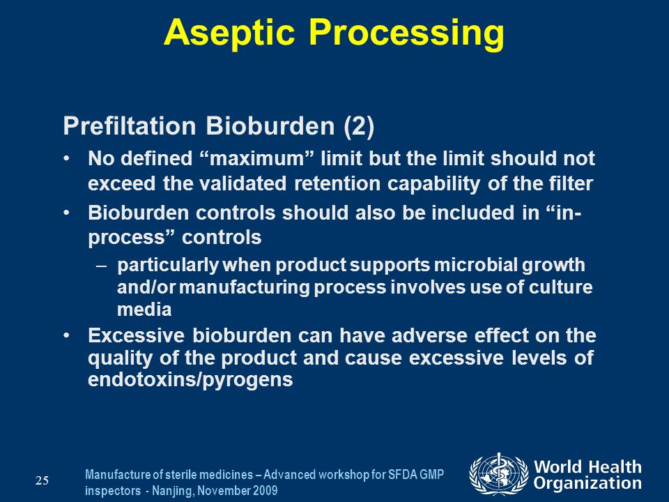 Aseptic Processing Prefiltation Bioburden (2)