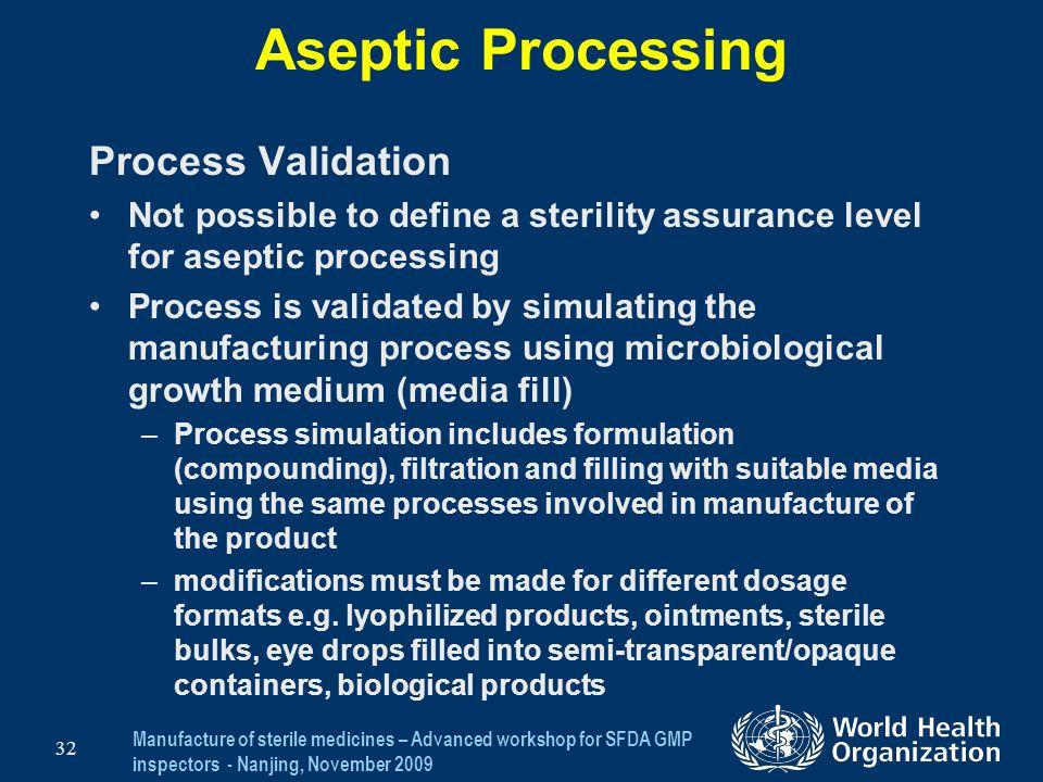 Aseptic Processing Process Validation