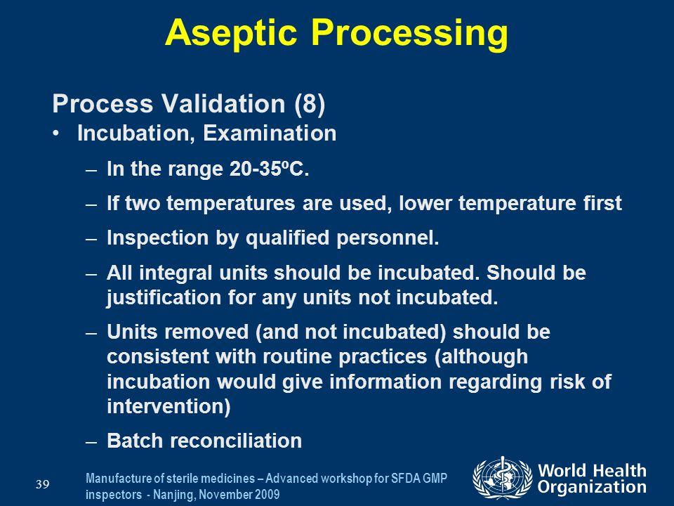 Aseptic Processing Process Validation (8) Incubation, Examination