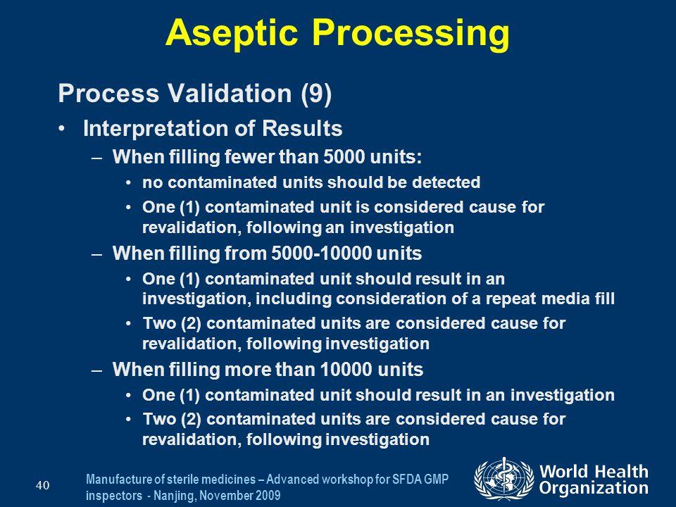 Aseptic Processing Process Validation (9) Interpretation of Results