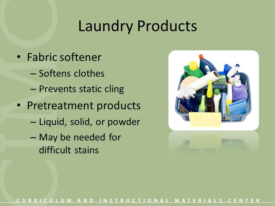 Laundry Products Fabric softener Pretreatment products Softens clothes