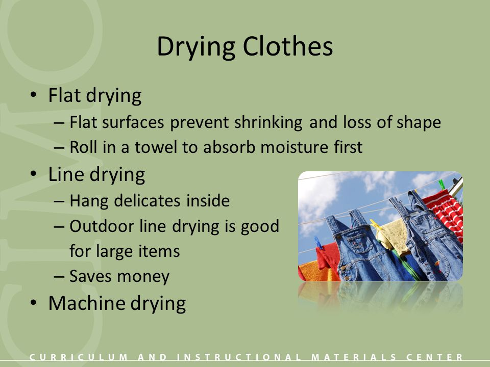 Drying Clothes Flat drying Line drying Machine drying