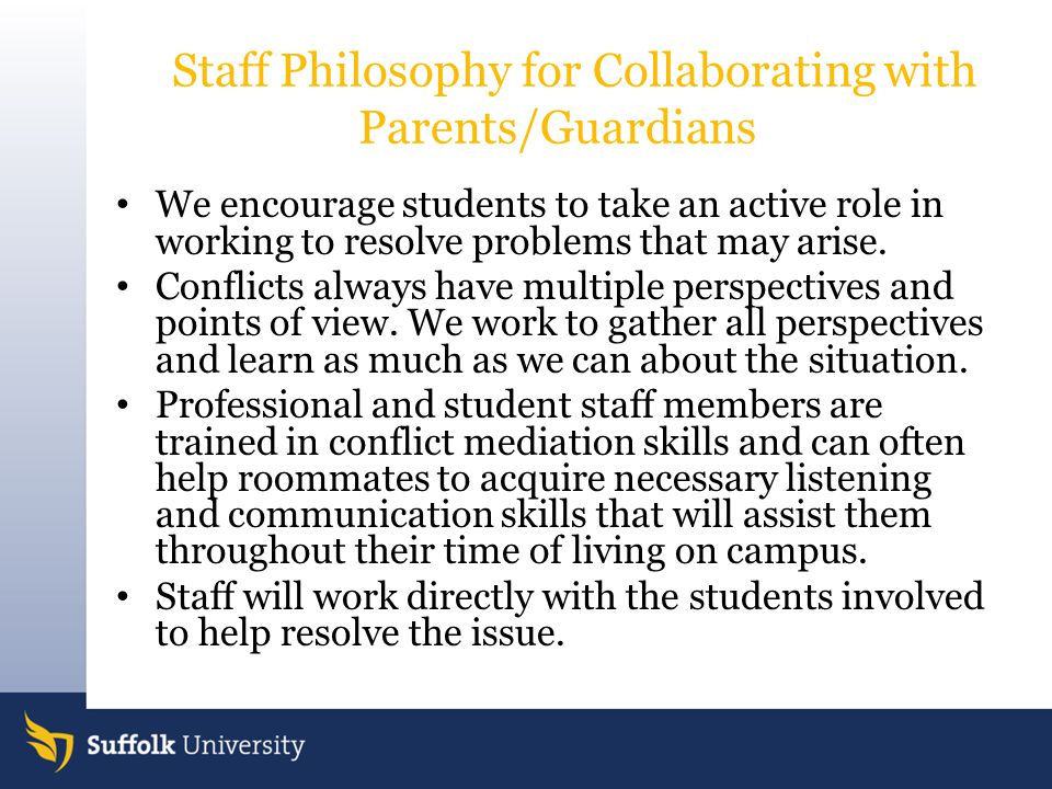 Staff Philosophy for Collaborating with Parents/Guardians
