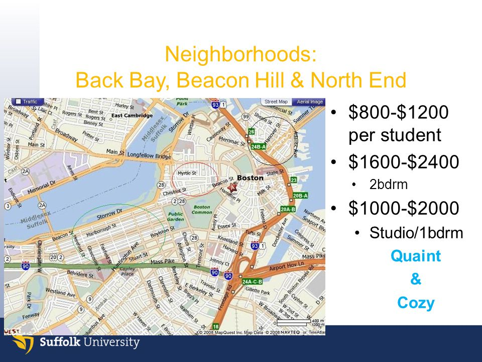 Neighborhoods: Back Bay, Beacon Hill & North End