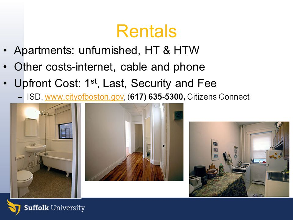 . Rentals Apartments: unfurnished, HT & HTW