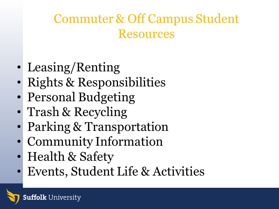 Commuter & Off Campus Student Resources