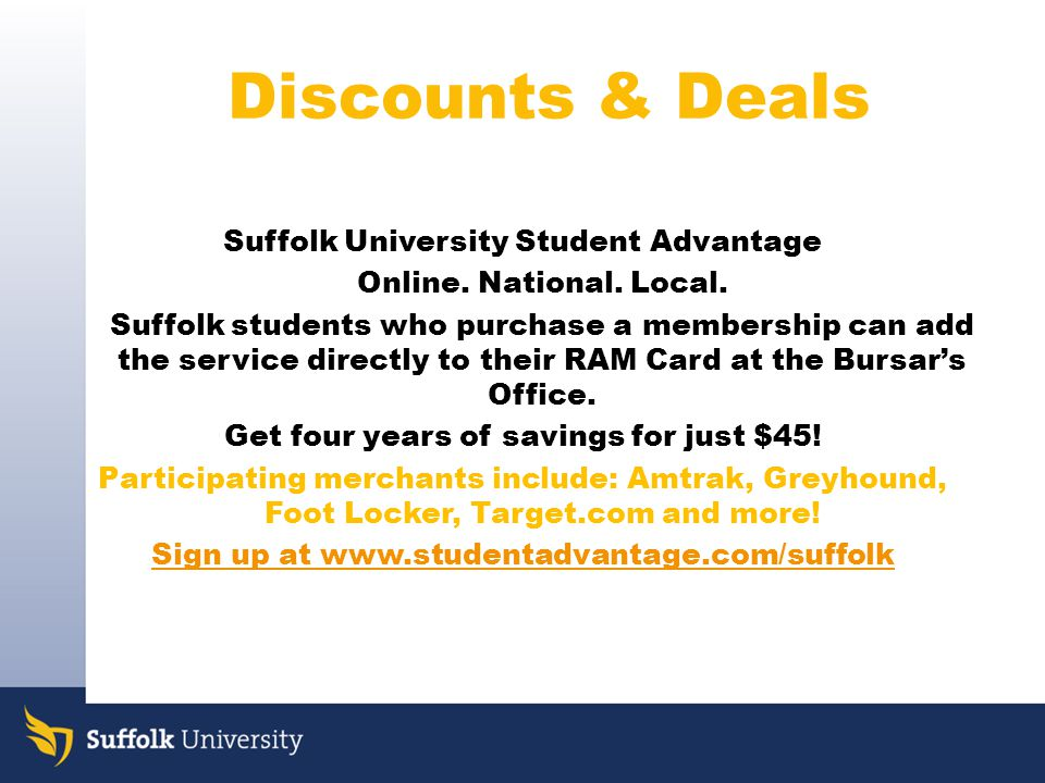Suffolk University Student Advantage