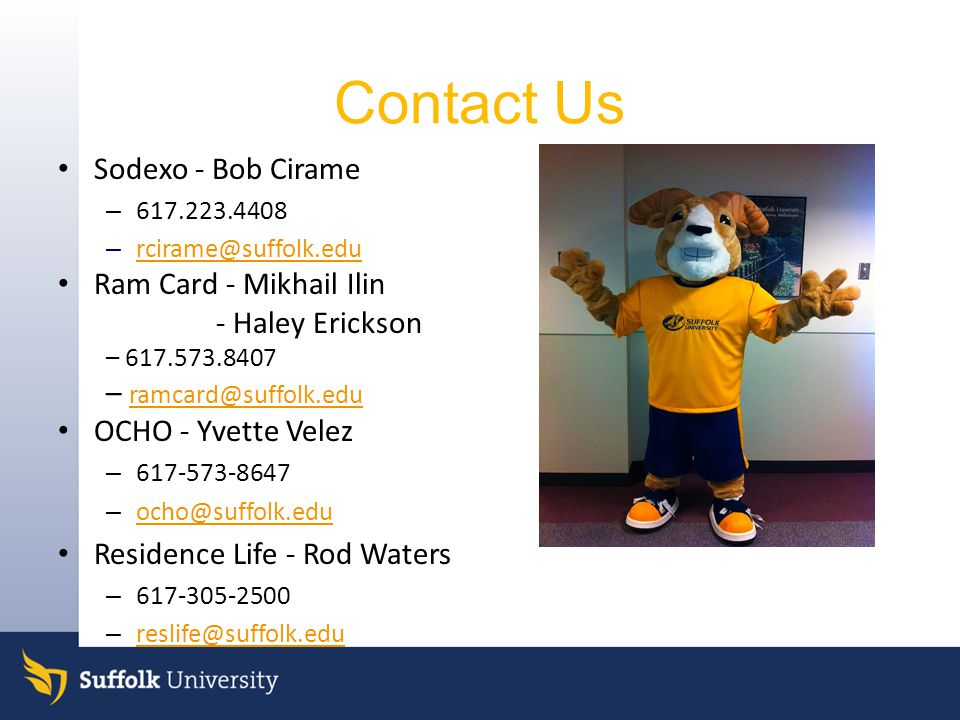 Contact Us Sodexo - Bob Cirame Ram Card - Mikhail Ilin