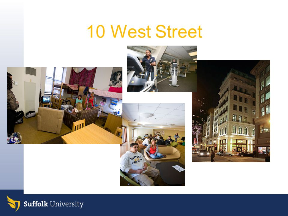10 West Street Quick overview. Freshmen live in all of them.