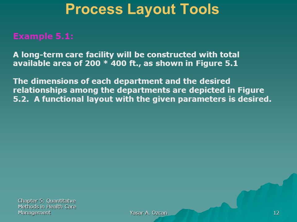 Process Layout Tools Example 5.1: