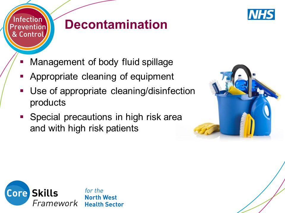 Decontamination Management of body fluid spillage