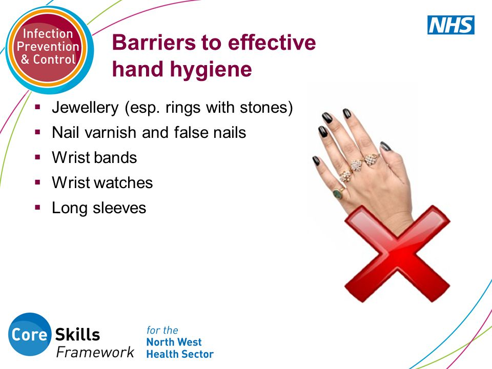 Barriers to effective hand hygiene