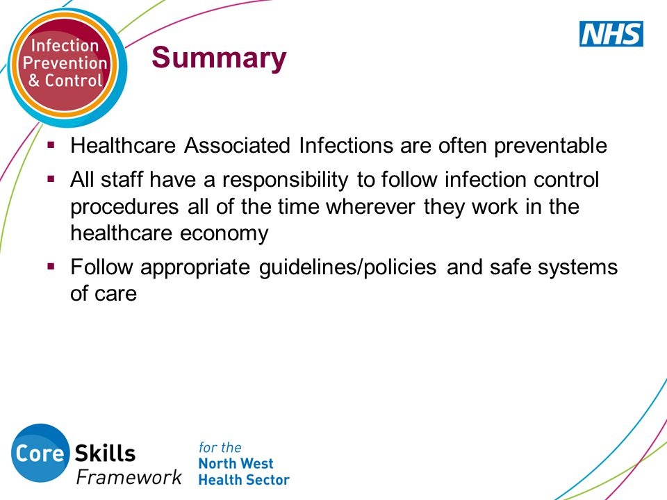 Summary Healthcare Associated Infections are often preventable
