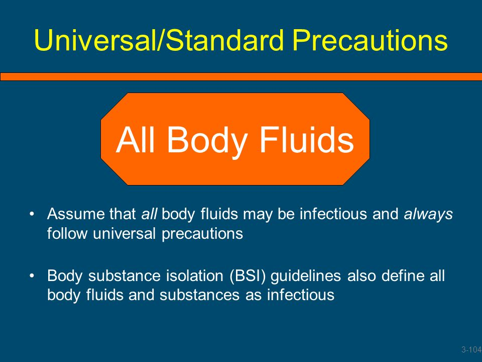 Universal/Standard Precautions
