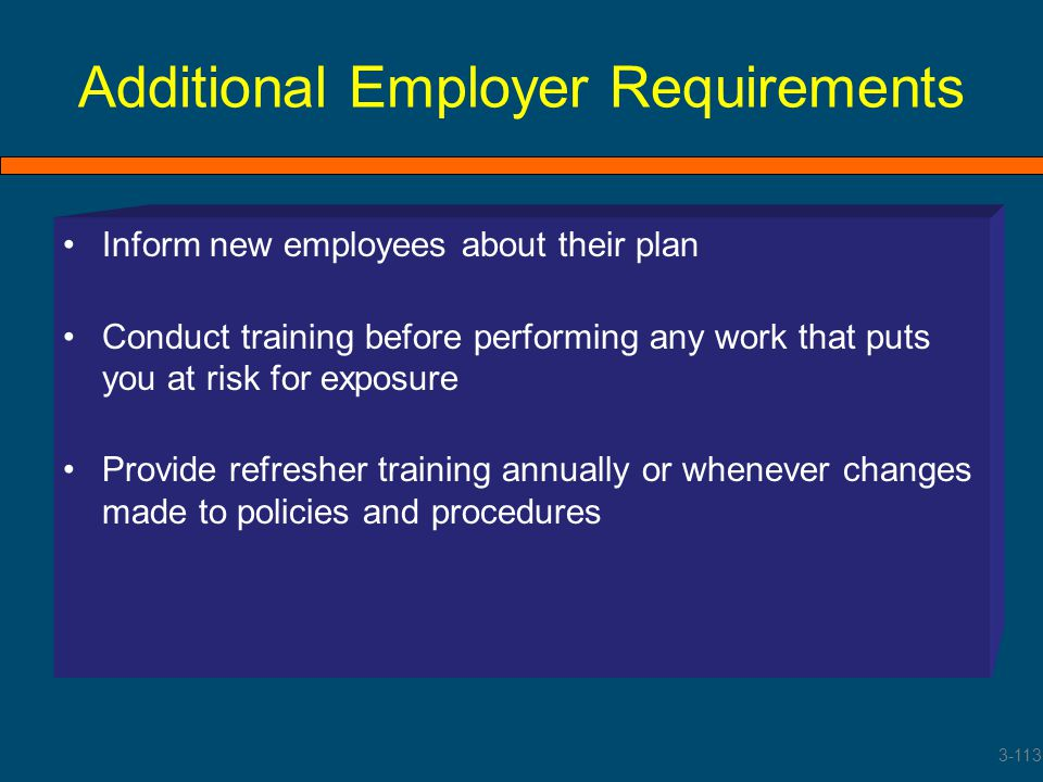 Additional Employer Requirements