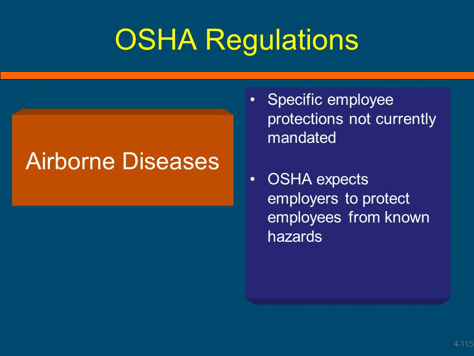 OSHA Regulations Airborne Diseases
