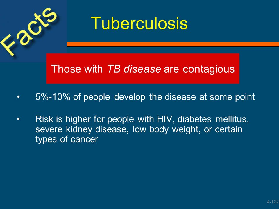 Those with TB disease are contagious
