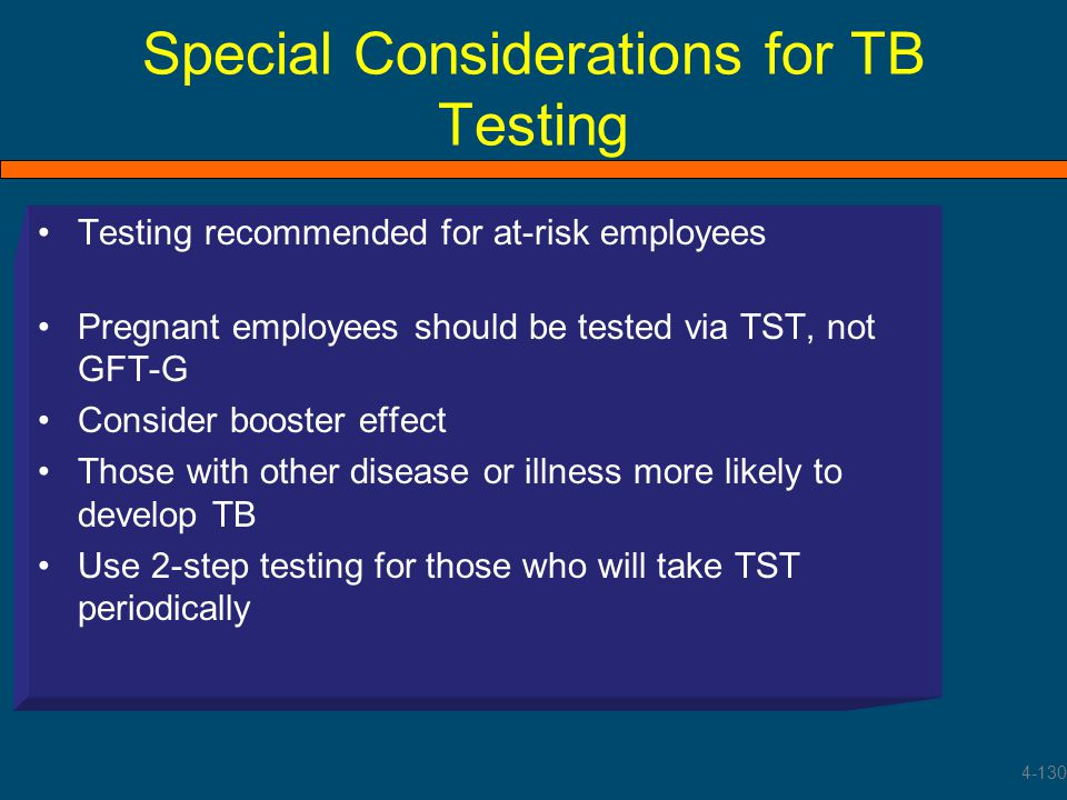 Special Considerations for TB Testing