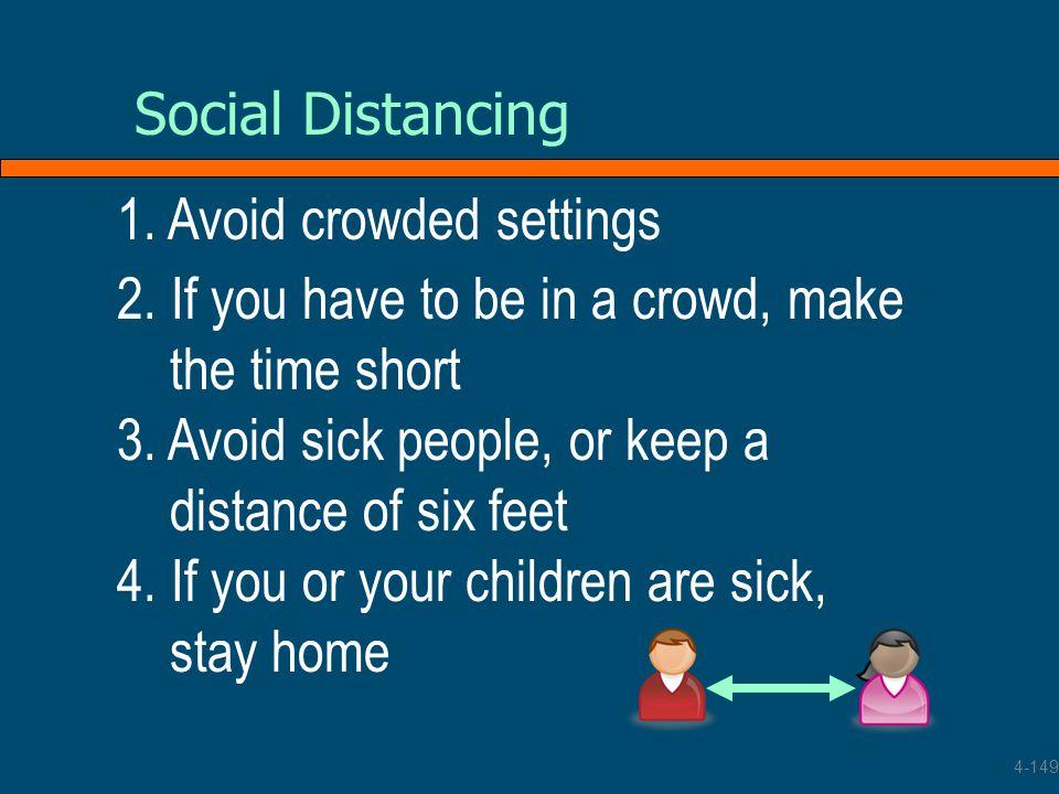 1. Avoid crowded settings
