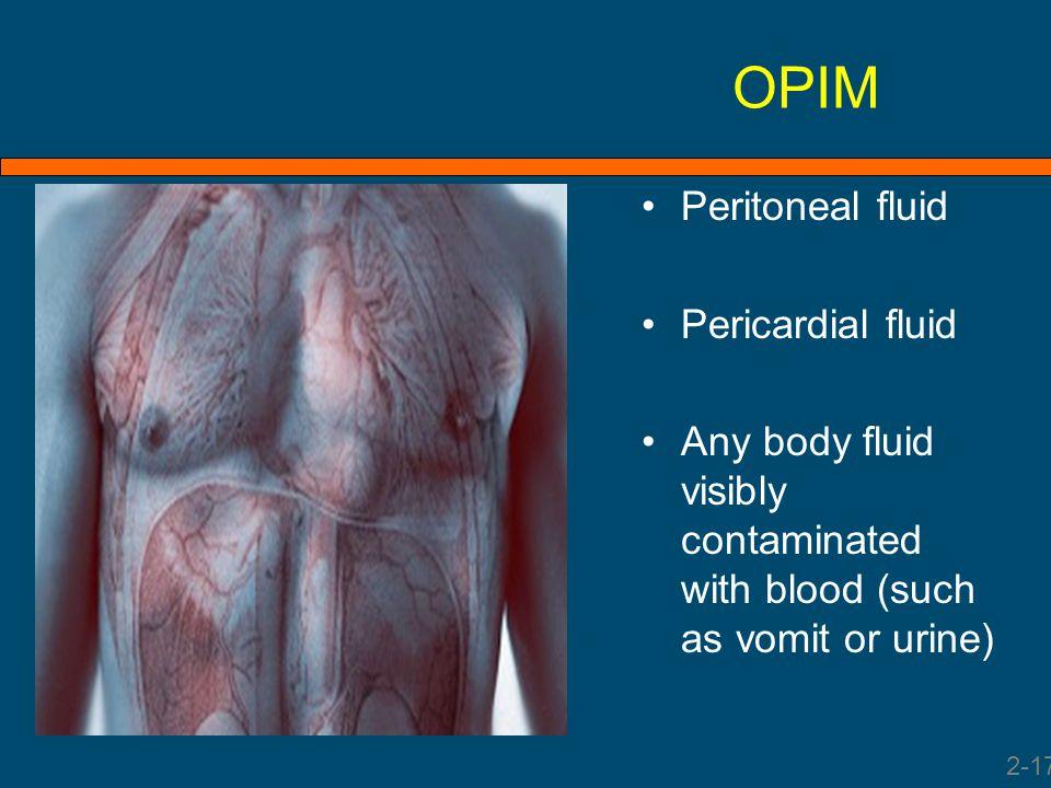 OPIM Peritoneal fluid Pericardial fluid